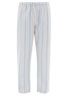 Derek Rose Striped brushed cotton-twill pyjama trousers