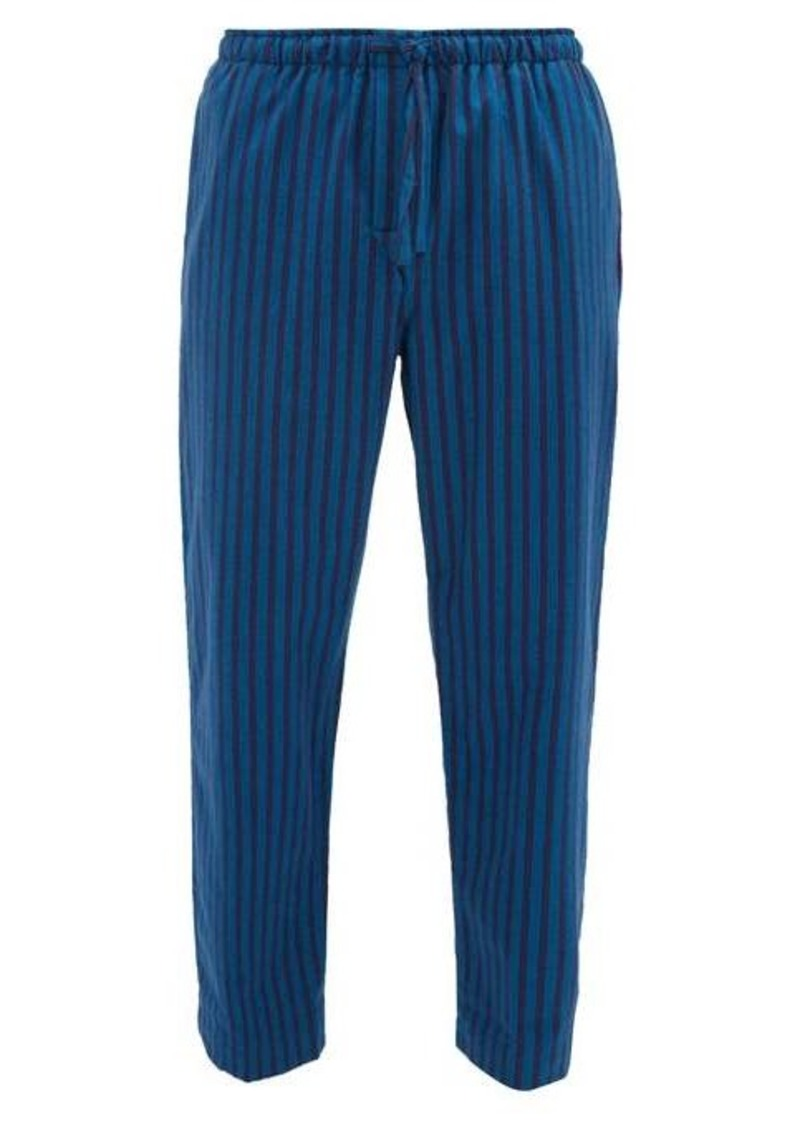 Derek Rose Striped brushed cotton-twill pyjama trousers