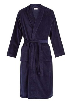 Derek Rose Triton cotton-velour bathrobe