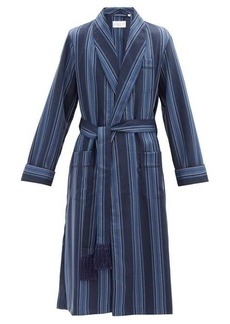Derek Rose York striped wool robe