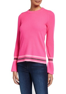 Design History Cashmere Varsity Striped Pullover
