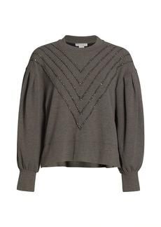 Design History Chevron Embroidered Sweater