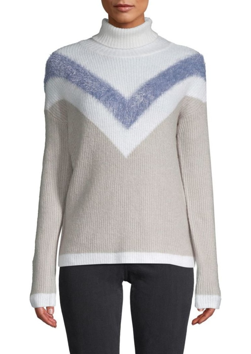 Design History Chevron Stripe Ski Sweater