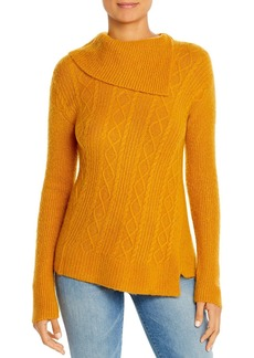 Design History Asymmetric Cable Sweater