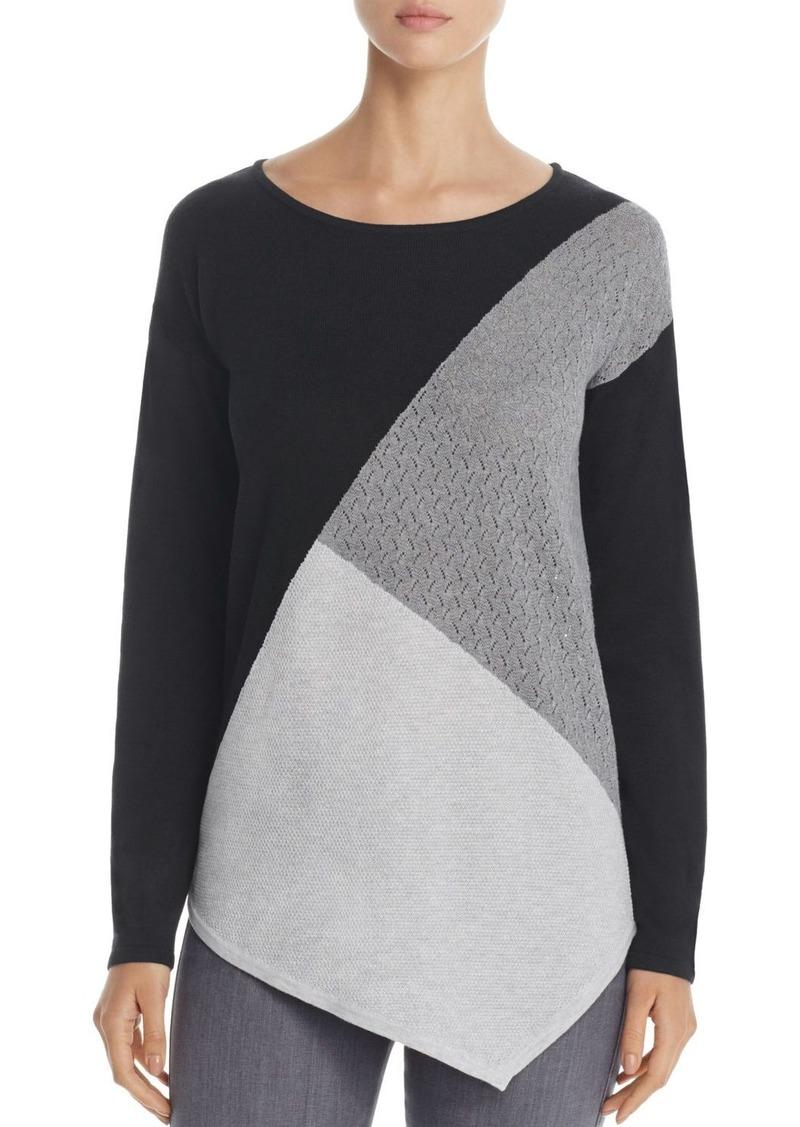 486f7b4679 Design History Design History Asymmetric Color Block Sweater