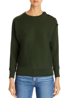 Design History Button-Shoulder Dolman Sweater
