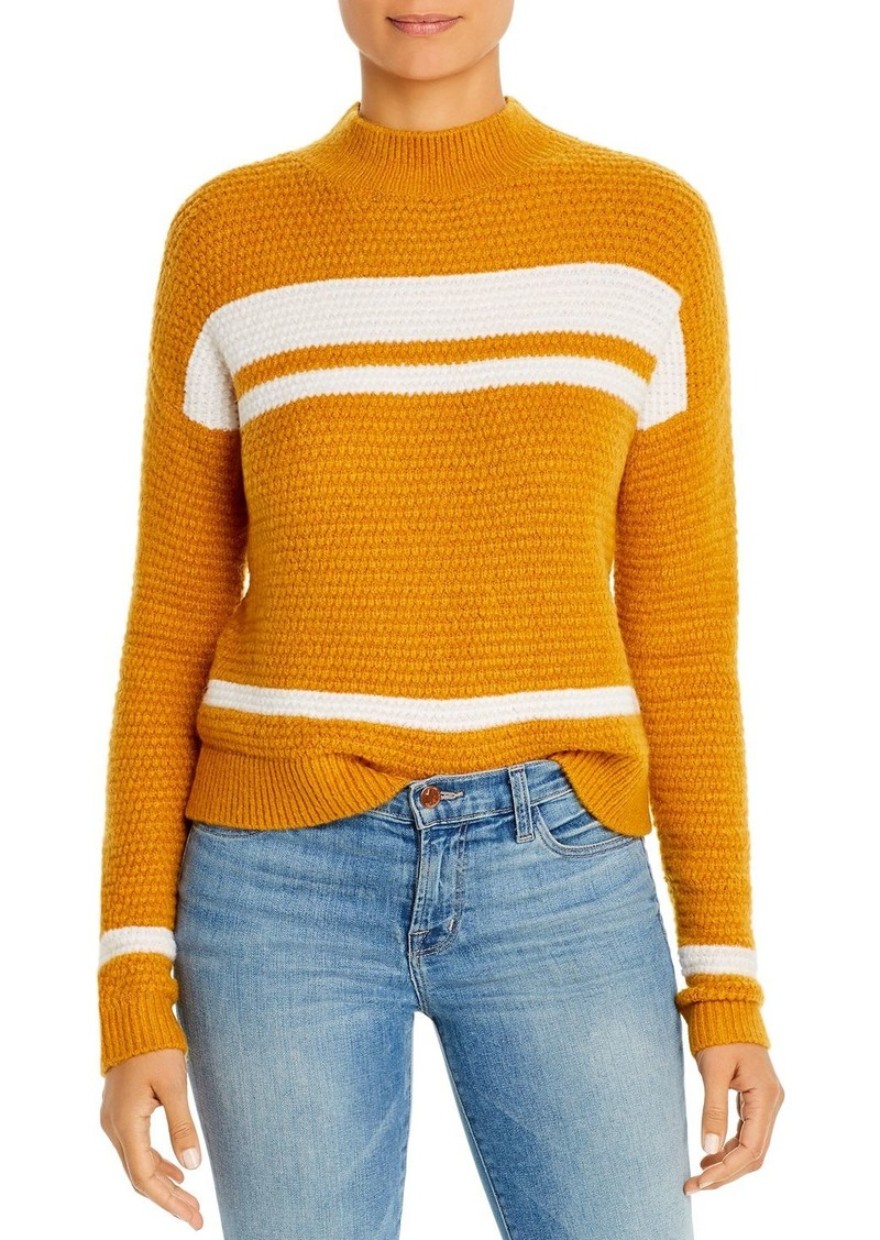 Design History Color-Block Mock-Neck Sweater