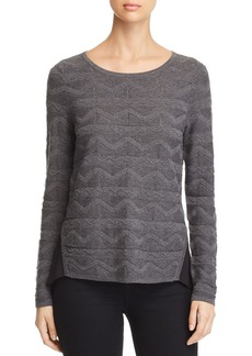 Design History Contrast-Back Pointelle Sweater