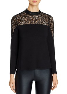 Design History Lace-Inset Top
