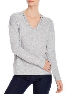 Design History Lace-Up Top
