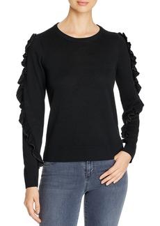 Design History Metallic Ruffled Detail Sweater