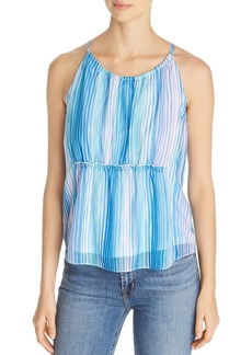 Design History Multi-Stripe Halter Top