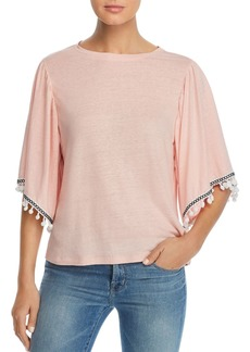 Design History Pom-Pom-Trim Top