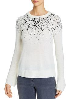 Design History Sequin Scalloped Cuff Sweater