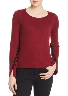 Design History Velvet-Trim Sweater