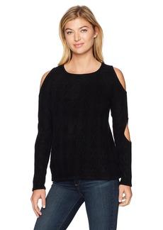 Design History Women's Double Cold Shoulder Sweater  M