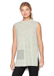 Design History Women's Faux Suede Pocket Sweater  M
