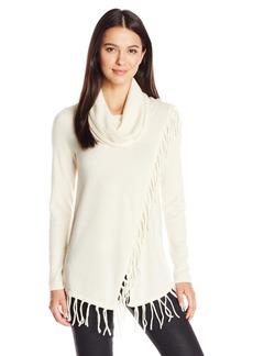 Design History Women's Fringe Pullover Sweater