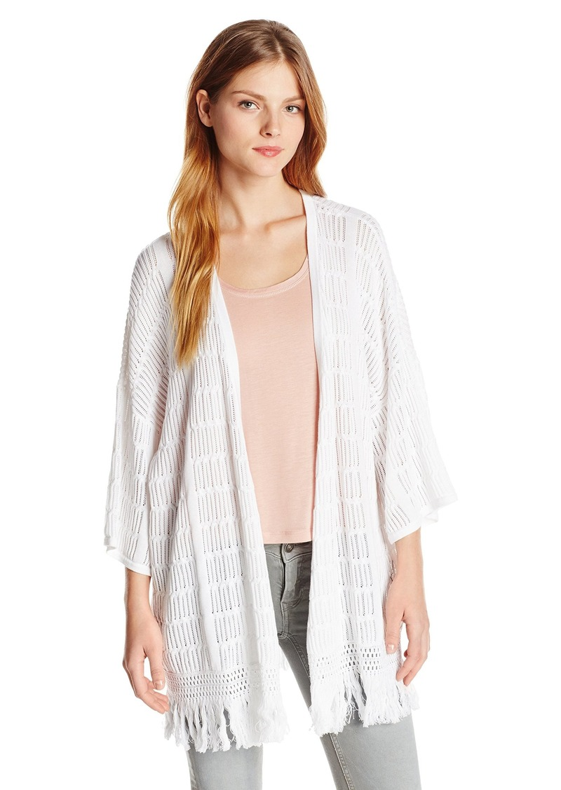 Design History Women's Open Front Cardigan