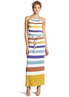 Design History Women's Printed Stripe Maxi Dress