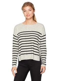 Design History Women's Side Tab Detail & Stripe Sweater  XL