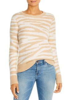 Design History Zebra Print Crewneck Sweater