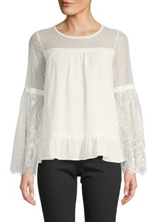 Design History Lace-Accented Top