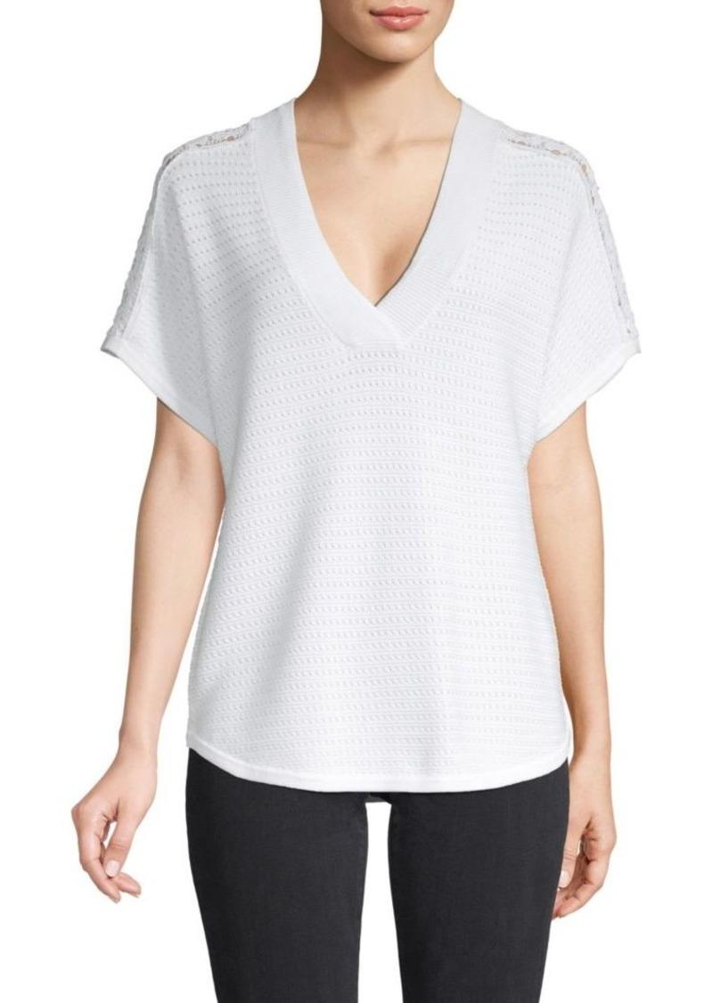 Design History Lace Cotton-Blend Top