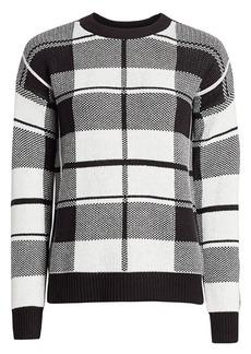 Design History Plaid Knit Sweater