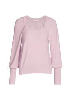 Design History Puff-Sleeve Sweater