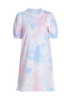 Design History Puff-Sleeve Tie-Dye T-Shirt Dress