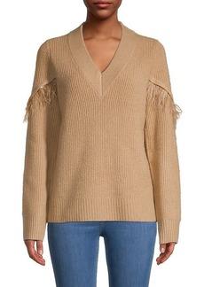 Design History Ribbed V-Neck Sweater