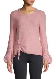 Design History Ruched Sparkle Sweater