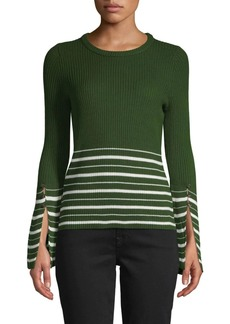 Design History Striped Ribbed Sweater