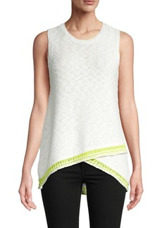Design History Textured Cotton Tank Top