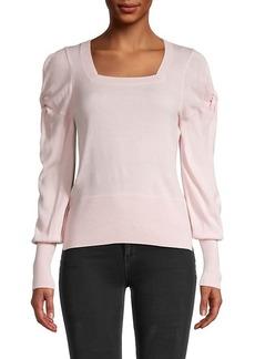 Design History Twist-Sleeve Sweater
