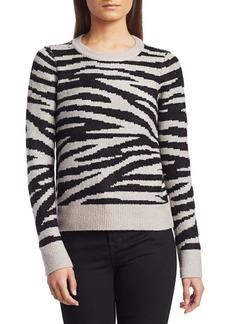 Design History Zebra Jacquard Sweater