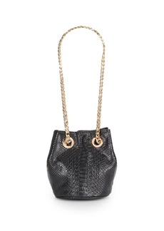 Deux Lux Promise Embossed Bucket Bag