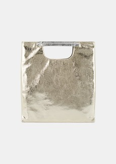 Barneys New York Women's Leather Foldover Clutch - Gold