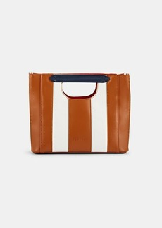 Barneys New York Women's Mini Colorblocked Tote Bag - White