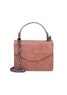 Deux Lux Women's Mini Crocodile-Embossed Satchel - Pink
