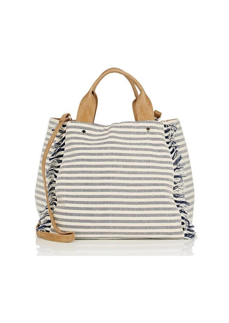 Deux Lux Women S Striped Canvas Tote Bag