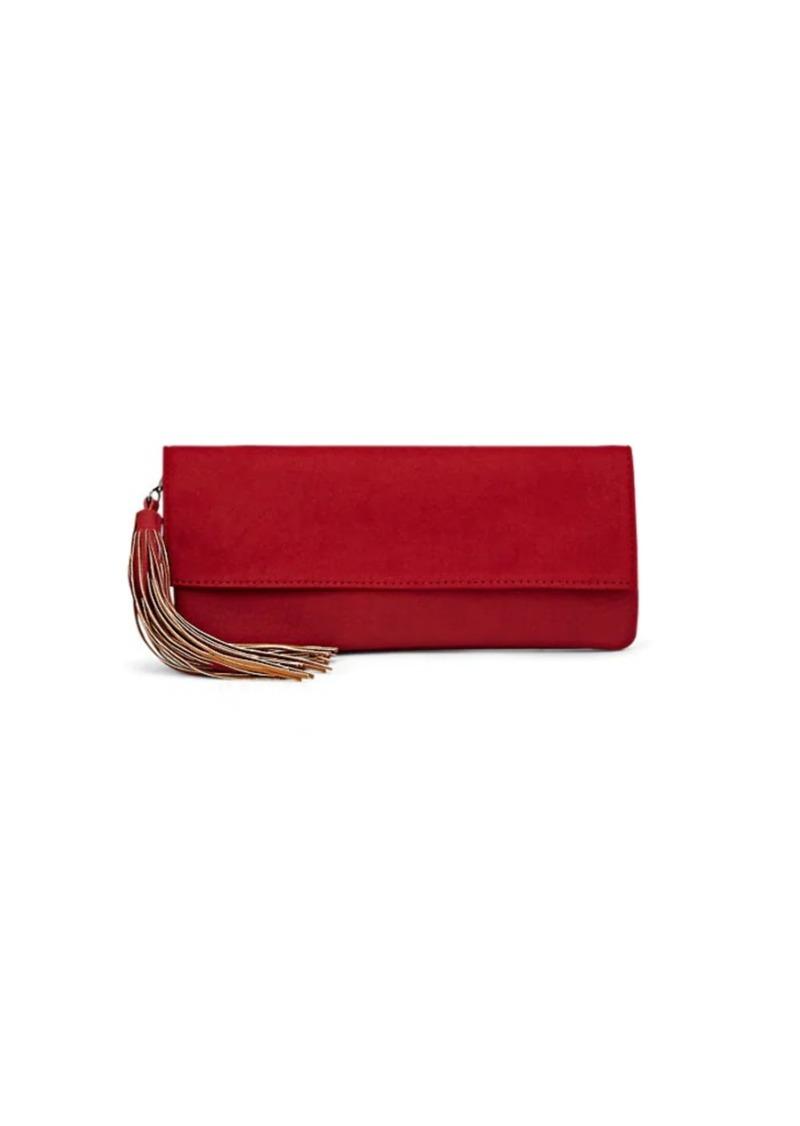 Deux Lux Women's Tassel-Detailed Foldover Clutch - Red