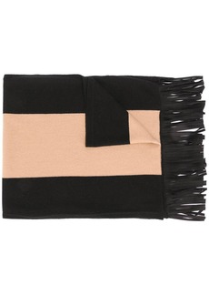 D.Exterior colour-block knitted scarf