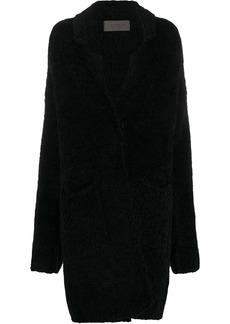 D.Exterior oversize wool coat