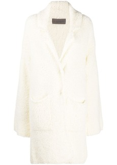 D.Exterior single breasted teddy coat