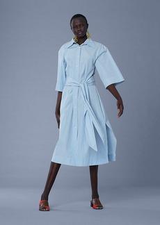 Diane Von Furstenberg ¾-Sleeve Cotton Belted Shirt Dress