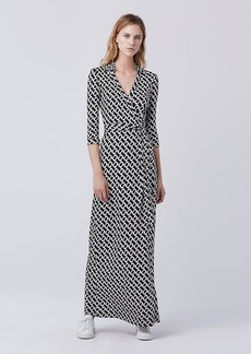 Abigail Maxi Silk Jersey Wrap Dress