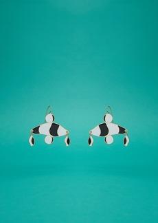 Diane Von Furstenberg Abstract Color Block Earrings