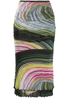 Diane Von Furstenberg abstract-print fitted skirt